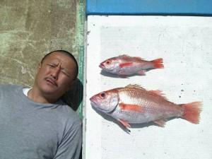 のどぐろと漁師