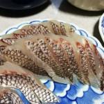 神経〆した真鯛の刺身。