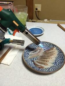 神経〆真鯛の炙り