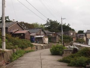 舳倉島町並み