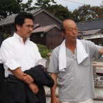 舳倉島区長と坂井政務官